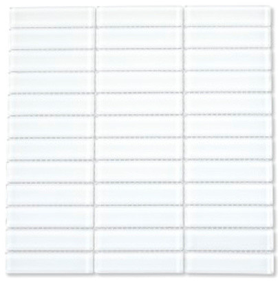white glass 1x4 subway tile box of 11 sq ft modern tile