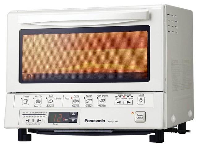 1,300-Watt Toaster Oven In White.