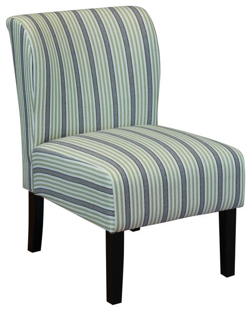 Sauzon Stripe Upholstered Chair, Green