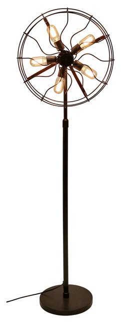 LumiSource Ozzy Floor Lamp, Antique Finish