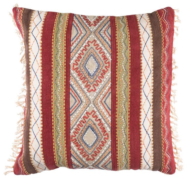 Decorative Pillows Southwestern : Marrakech Pillow, 20x20x4 - Southwestern - Decorative Pillows - by Surya