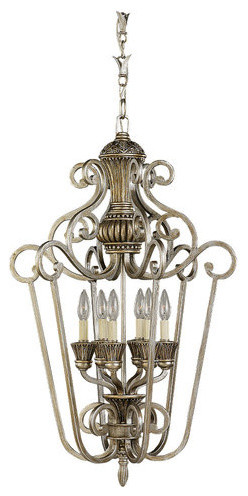 Sea Gull Lighting 51251 Wrought Iron Incandescent Six Light Hall Foyer Fixtur