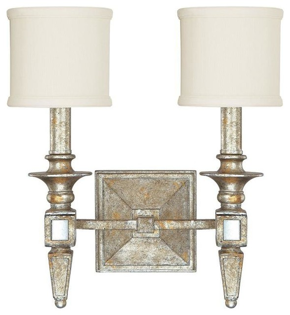 Bathroom Light Fixtures In Gold capital lighting 8482sg-535 palazzo 2-light sconce, silver and