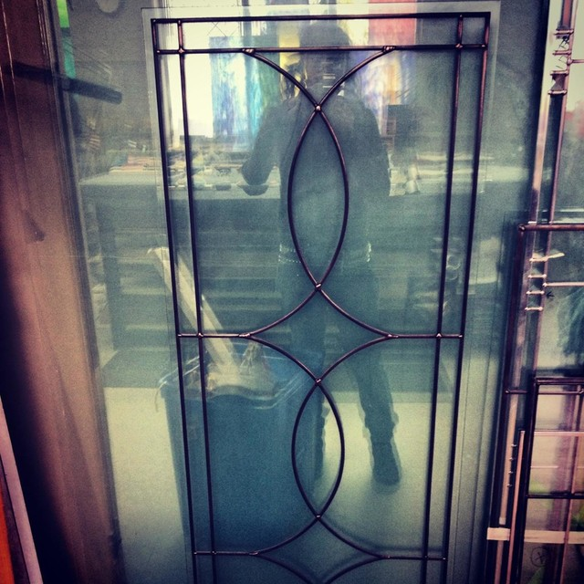 Leaded Glass Inserts for Cabinets - Toronto - by Glassworks Studio, Toronto CANADA