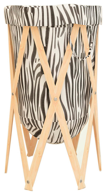 White/black Collapsible Laundry Hamper Blh12.
