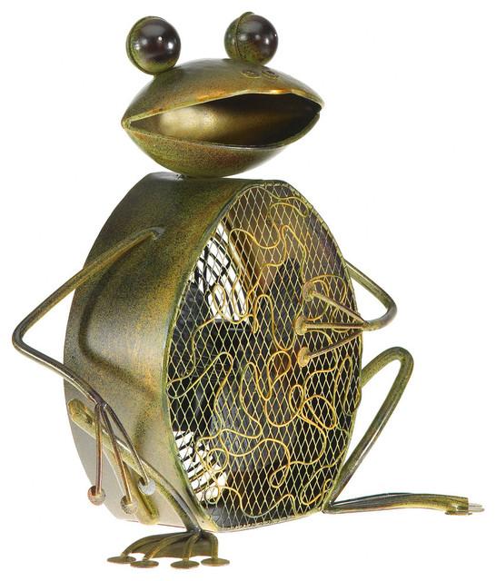 Decobreeze Figurine Fan, Frog.