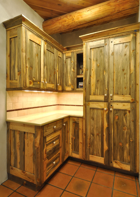 Colorado Beetle Kill Pine Kitchen - Rustic - Denver - by The Artisan Shop, Inc.