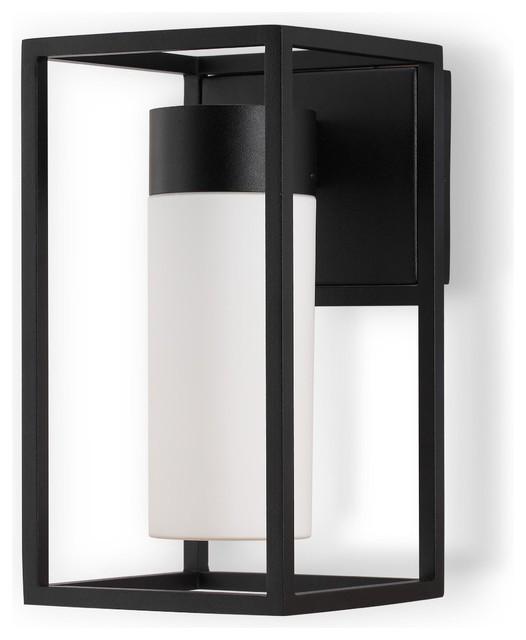 Gabriel Modern Black Led Aluminum Outdoor Wall Light Transitional