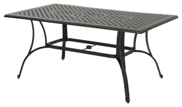 GDF Studio Fonzo Outdoor Bronze Cast Aluminum Rectangular Dining Table Only