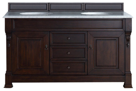 Brookfield 60 Quot Antique Black Double Vanity With 4cm Santa
