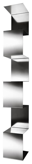 Segmento Steel Bookcase, Brushed, Large