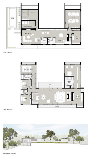 Houzz Tour New Home S U Shape Lets The Forest In