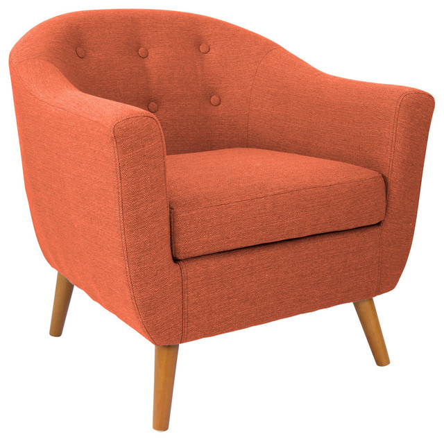 Lumisource Rockwell Accent Chair, Orange
