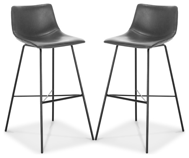 Poly And Bark Paxton 29 Quot Bar Stool Set Of 2 Midcentury
