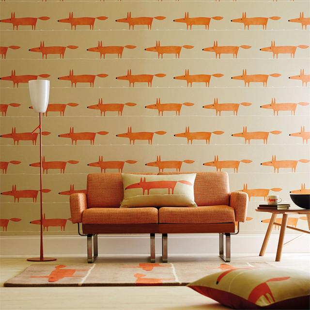 Mr Fox Wallpaper, Ginger