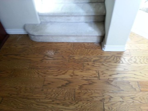 Different Hardwood Floors On Second Level And Stairs