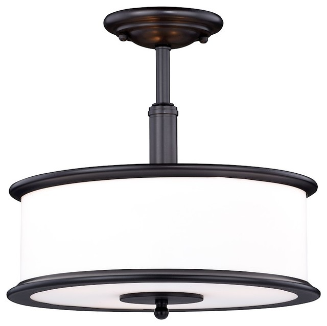 Carlisle 13.5 Semi-Flush Mount, Noble Bronze.