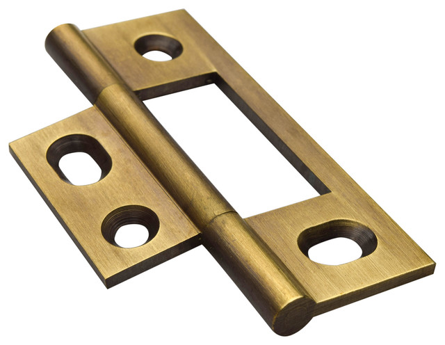 NM-7 Non-Mortised Hinge With Flat Tops, Set of 2 - Traditional - Hinges - by Horton Brasses Inc