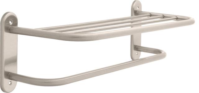Delta 24 Towel Shelf With Bar Satin Nickel