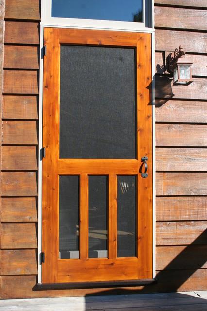 Wood screen door traditional doors