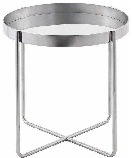 Nuevo Gaultier Side Table Stainless Steel.