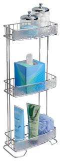 InterDesign 3 Tier Chrome and Clear Rain Shelf