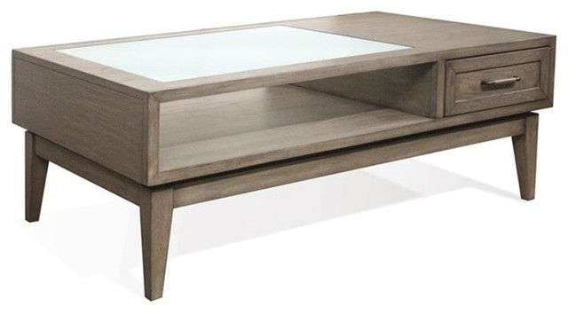 Cocktail Table Gray Wash Transitional Coffee Tables By