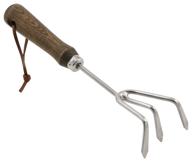 Perfect Joseph Bentley Stainless Steel Hand 3   Prong Cultivator Traditional  Gardening Hand Tools