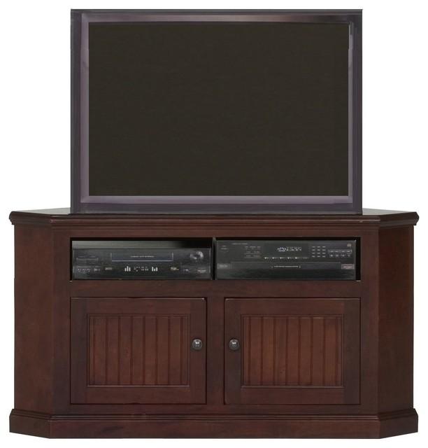 Eagle Furniture 50 Coastal Corner Tv Cart Burnt Cinnamon