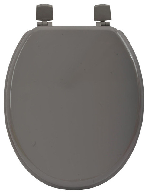 Evideco Oval Elongated Toilet Seat Solid Color Wood 17 5