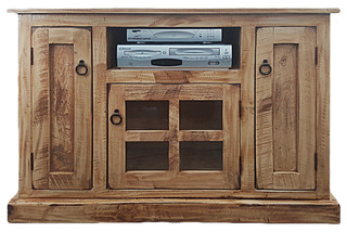 Rustic TV Stand, Rustic Soft White