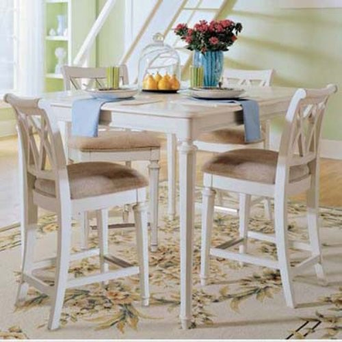 American Drew Camden White 5 Pc Counter Height Table Set