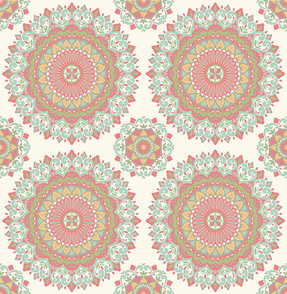 Bohemian Medallion Wallpaper - Mediterranean