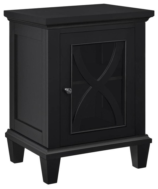 Single Door Accent Cabinet, Black Finish - Contemporary - Accent Chests And Cabinets - by ShopLadder
