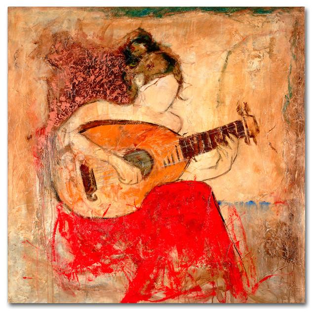 """Joarez 'Vanessa' Canvas Art, 18""""x18"""""""