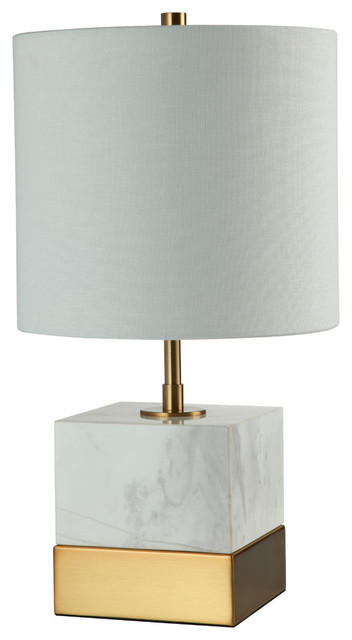 17 5 Square Marble Base Table Lamp Transitional Table Lamps
