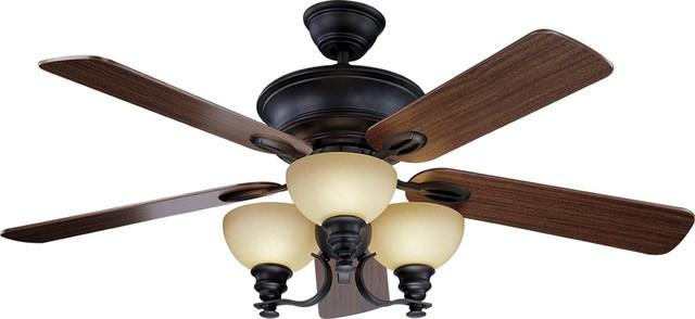 Rainier 3-Light Foundry Bronze Ceiling Fan.
