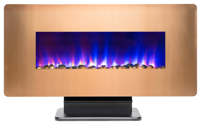 "36"" Freestanding Electric Fireplace And Remote."