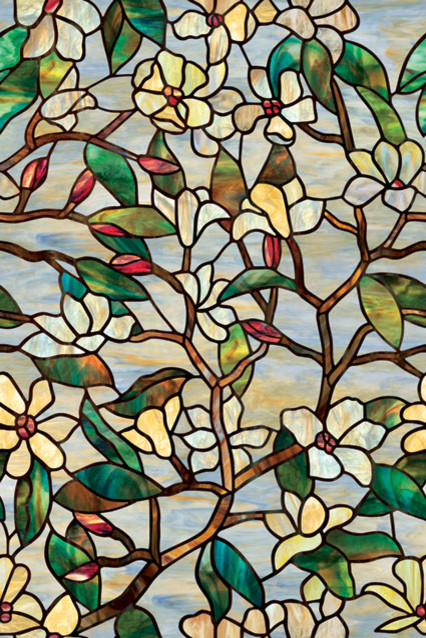 "Artscape Summer Magnolia Window Film 24""x36""."
