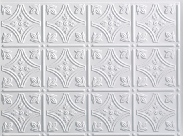 Fasade Traditional 1 Backsplash Sample, Gloss White