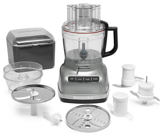 Exactslice System 11-Cup Food Processor, Adjustable Lever, Contour Silver.
