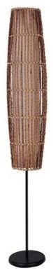 62 In. Floor Lamp W Natural Woven Rattan Outer Shade.