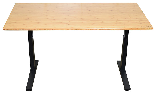 Rise Up Electric Adjustable Height Sit/Stand Office Desk   Contemporary    Desks And Hutches   By Uncaged Ergonomics