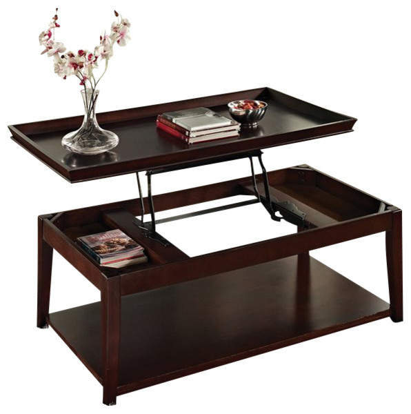 Steve Silver Company Steve Silver Company Clemson 3 Piece Lift Top Cocktail Table Set In Cherry