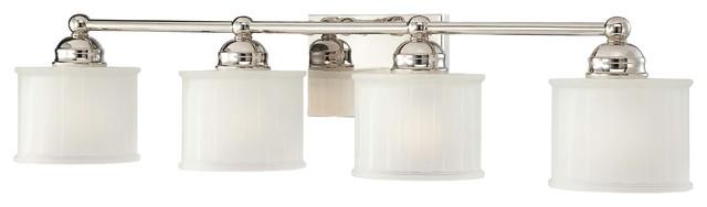1730 Series 4-Light Bath, Polished Nickel