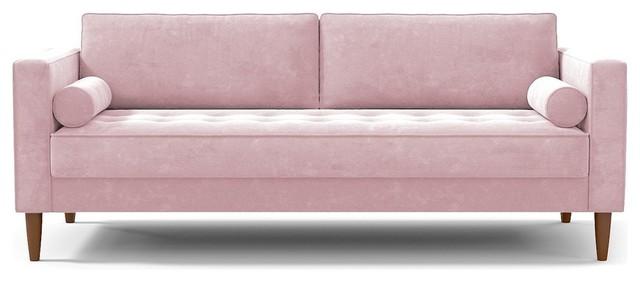 Delilah Sofa, Blush Velvet.