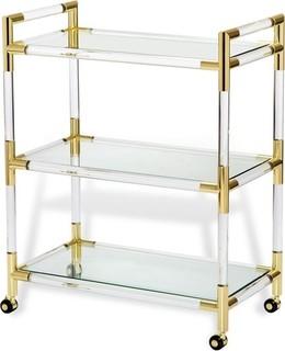 Julien Bar Cart, Brass