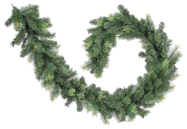 260 Tips Christmas Pine 9 Feet Garland - Green Two-Tone.