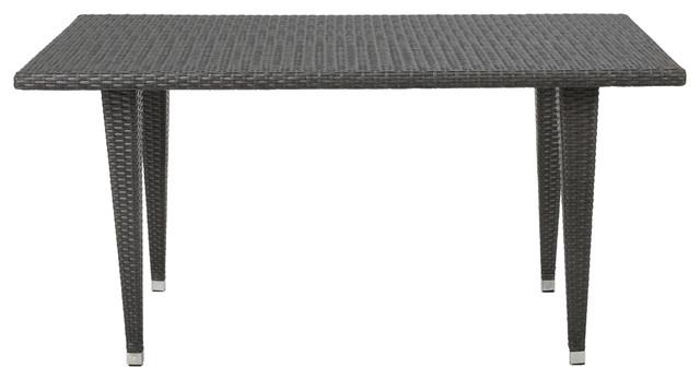 Aina Gray Wicker Outdoor Patio Table Contemporary  : contemporary outdoor dining tables from www.houzz.com size 640 x 348 jpeg 31kB