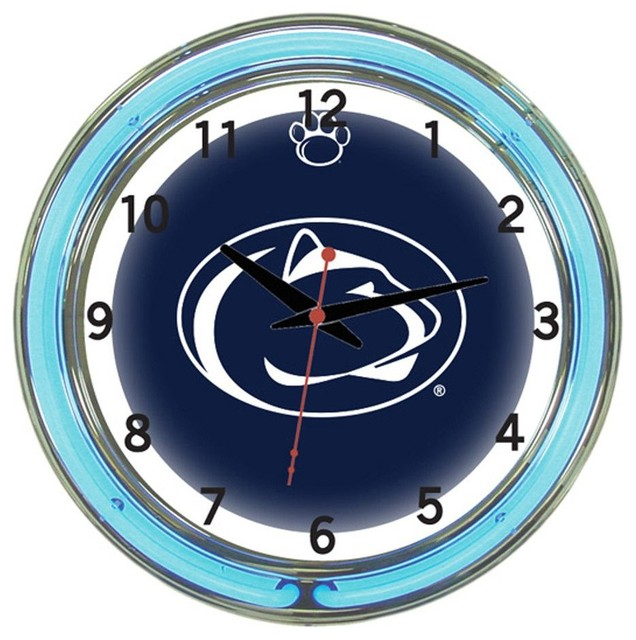 Penn State Nittany Lions 18 Quot Wall Clock With Neon Lights